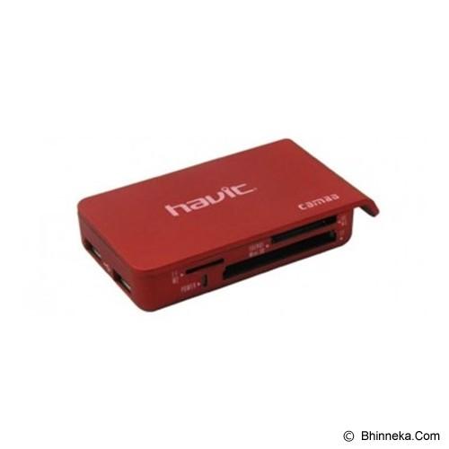 HAVIT Card Reader 6 Slot + 2 USB Port [HV-C11] - Red - Memory Card Reader External